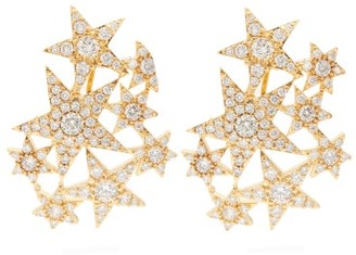 ATTICO The Galexia Crystal-embellished Star Earrings - Womens - Gold