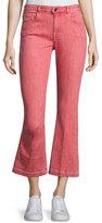 Frame Le Color Crop Mini Boot-Cut Jeans, Crimson