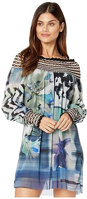 Fuzzi Long-Sleeve Short Dress