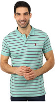 U.S. Polo Assn. Feeder Striped Interlock Polo