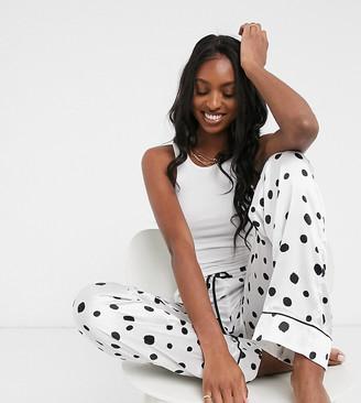 ASOS DESIGN Tall mix & match satin pyjama trouser in splodge spot print