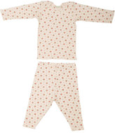Bonpoint Two-Piece Floral Jersey Set, Pink, Size 6M-2