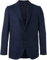 Caruso notched lapel blazer - men - Cupro/Wool - 46