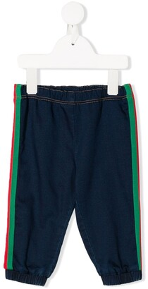 Gucci Kids Web Trim Track Trousers