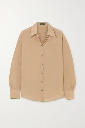 Dolce & Gabbana Washed-silk Blouse - Beige