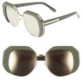 Karen Walker Women's Domingo 52Mm Sunglasses - Khaki/ Gold
