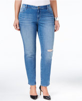 Style&Co. Style & Co Plus Size Distressed Saint Wash Slim-Leg Jeans, Only at Macy's