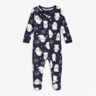 Joe Fresh Baby Girls' Glow-in-the-Dark Sleeper, Dark Navy (Size 0-3)
