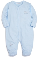 Kissy Kissy Boys' Micro-Striped Embroidered Footie - Baby