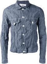 Comme des Garcons wrinkles denim jacket - men - Cotton - S