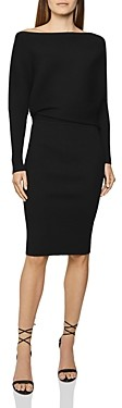 Reiss Lara Ribbed Off-the-Shoulder Bodycon Dress