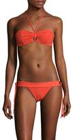 Proenza Schouler Grommet Trim Tie Front Bikini Set