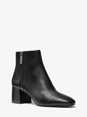 Michael Kors Alane Pebbled Leather Ankle Boot