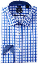 English Laundry Graph Check Trim Fit Dress Shirt