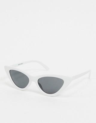 Noisy May cat eye sunglasses in white