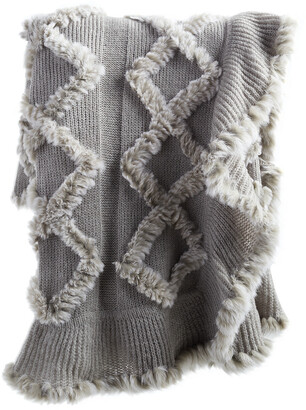 Adrienne Landau Knitted Fur Throw