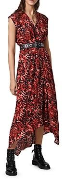 AllSaints Tate Ambient Animal-Print Dress