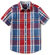 Nautica Big Boys 8-20 Plaid Short-Sleeve Woven Shirt