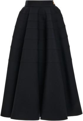 Loewe Tiered Wool Full Midi Skirt