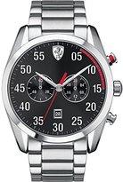 Ferrari Scuderia 0830176 Mens D50 Chronograph Black Steel Watch