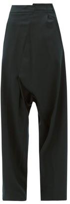 MM6 MAISON MARGIELA Deconstructed High-rise Trousers - Dark Green