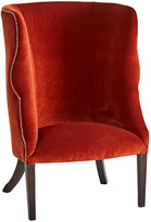 Rejuvenation Red Velvet Barrel Chair