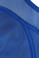 adidas by Stella McCartney Mesh and stretch-jersey dress