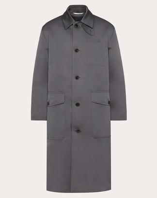 Valentino Long Coat Man Grey Polyester 100% 44