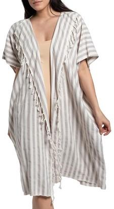 Slate & Salt Nautical Stripe Sand Turkish Kimono