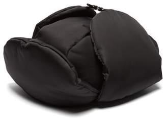 Prada Padded Nylon Trapper Hat - Mens - Black