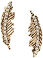 Betsey Johnson Angels And Wings Feather Stud Earring