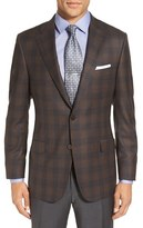 Hickey Freeman 'Beacon' Classic Fit Plaid Wool Sport Coat