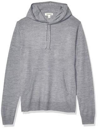 Goodthreads Merino Wool Pullover Hoodie Sweater Heather Grey Medium