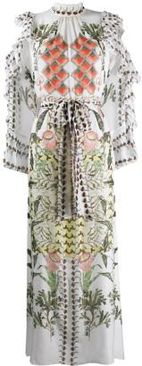 Temperley London Silk Ruffle Neck Dress
