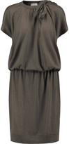 Brunello Cucinelli Embellished cashmere and silk-blend dress