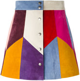 Marc Jacobs rainbow panel mini skirt - women - Silk/Calf Suede - 2