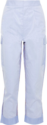 Tome Paneled Striped Cotton-twill Straight-leg Pants