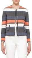 Akris Punto Women's Ruffle Back Stripe Jacket