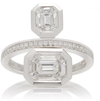 As 29 AS29 Duplex Illusion 18K Gold Diamond Ring