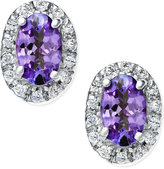 Macy's Tanzanite (3/8 ct. t.w.) and Diamond Accent Earrings in 14k White Gold