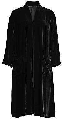 Eileen Fisher Women's Long Velvet Kimono Jacket