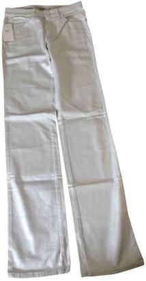 Armani Collezioni White Cotton - elasthane Jeans for Women