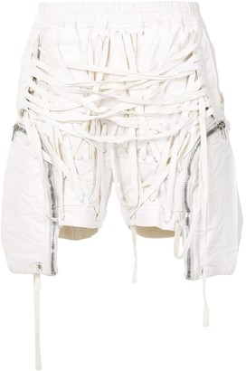Rick Owens Thomas lace-detail cargo shorts