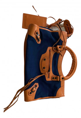 Balenciaga City Navy Denim - Jeans Handbags
