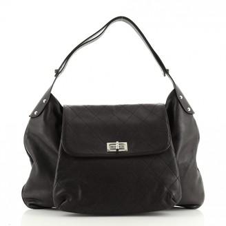 Chanel Mademoiselle Black Leather Handbags