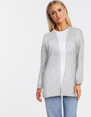JDY crea long sleeve cardigan in light grey