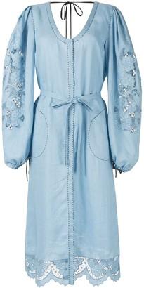 Vita Kin Lace-Detail Midi Dress
