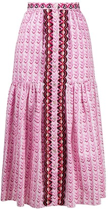 Temperley London Poet a-line skirt