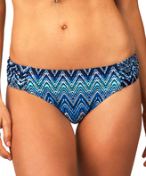Leilani Navy Shirred Bikini Bottoms
