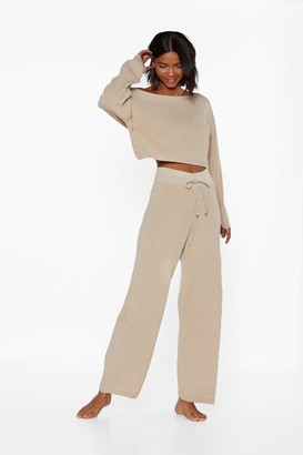 Nasty Gal Womens Slow Down Jumper and Joggers Lounge Set - Beige - S